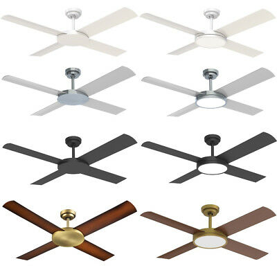 """Hunter Pacific Revolution 3 52"""" Outdoor Ceiling Fan - Colour - Light Options"""