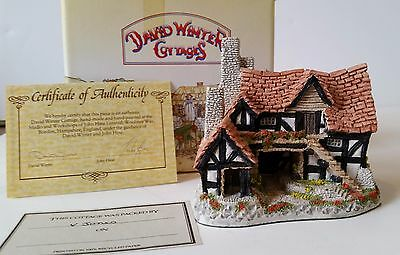 David Winter Cottages The Bothy In the Country house Original Box & COA 1983