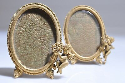 A  Pair of Vintage Antique Cherub Picture Frames 3x2