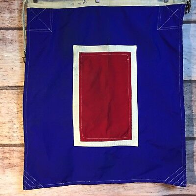 """Vintage Maritime Nautical Flag Letter W """"I Require Medical Assistance"""" 810065"""
