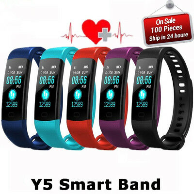 Smart Bracelet Watch Heart Rate+Blood Pressure Monitor Fitness Tracker Women Man