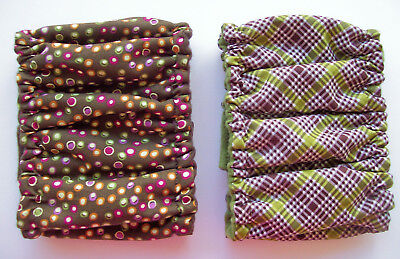 2 pk Dog Diaper MEDIUM Male Plaid Washable Belly Band Elastic Wrap 13 14 15 16