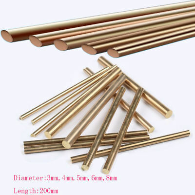 Brass Rod Bar 3/4/5/6/8mm Handles Knife Rivets Pin Pins DIY Supplies Making New
