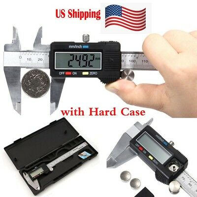 "Digital Electronic Gauge Stainless Steel Vernier 150mm 6"" Caliper Micrometer US"