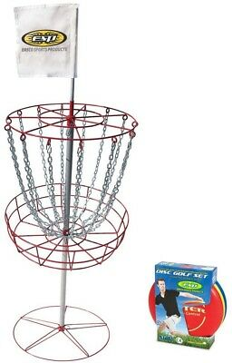 Emsco PDGA Approved Disc Golf Set with Goal