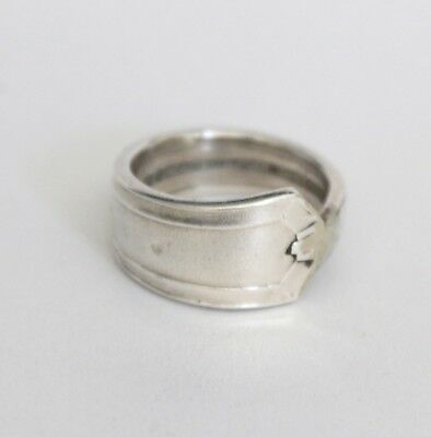 Antique Vintage - Silver Spoon Ring - Handcrafted Antique Teaspoon - Size P ½
