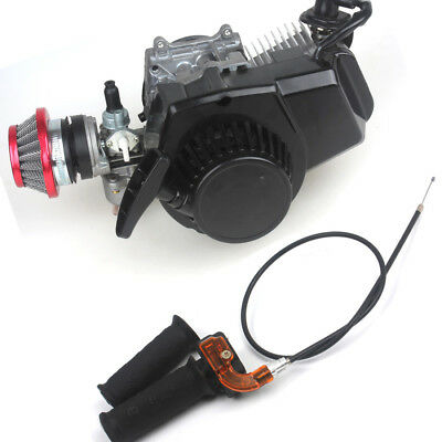 2 stroke Engine 49CC w/ Grips+Throttle Cable+Air Filter Pocket Mini ATV 6T T8F
