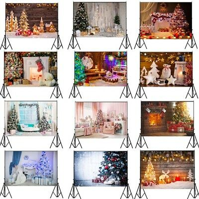 7x5FT Happy New Year Photo Christmas Backdrops Vinyl Family Props Background USA