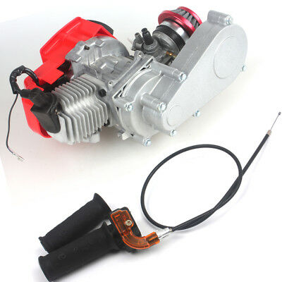 DIY Engine 49cc 2-Stroke w/ T8F 14t Gear Box Pocket Mini Air Filter+Grips+Cable