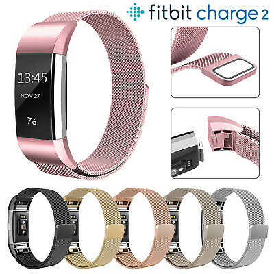 For Fitbit Charge 2 / Fitbit Alta HR Strap Replacement Milanese Stainless Steel