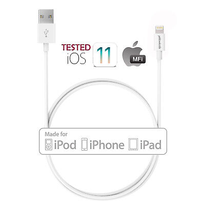 US Lot 1M MFi Certified Apple Lightning Data Sync Cable Charger For iPhone iPod