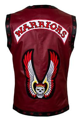 The Warriors Movie Leather Motorcycle Rider Vest Halloween Costume For Men New