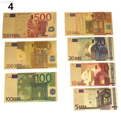 5931 1A9B Gold 24K Gold Plated EUR Banknotes Antique Gifts Commemorative Notes