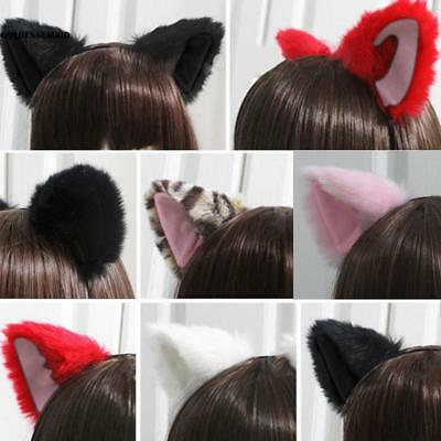 Cute Cosplay Party Headband Orecchiette Cat Fox Long Fur Ears Anime GDNG
