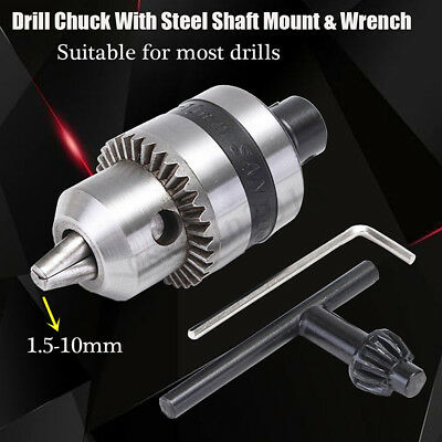 1.5-10mm Mini Electric Drill Chuck + 5mm Steel Shaft Mount B12 Inner Hole Tool