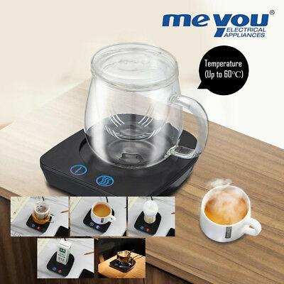 Meyou Electric Beverage Warmer Plate with Adjustable Temperature (Up to 60℃)