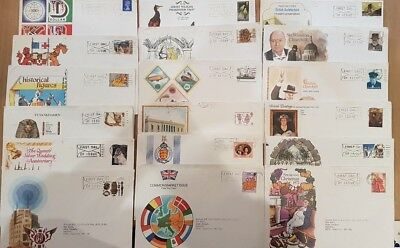 Job Lot of 18 First Day Covers. Early 1970s