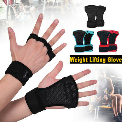 Men Gym Building Training Fitness Gloves Sports Weight Lifting Workout Exercise