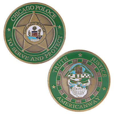 Chicago Police Department Commemorative Challenge Coins Collection Token Art