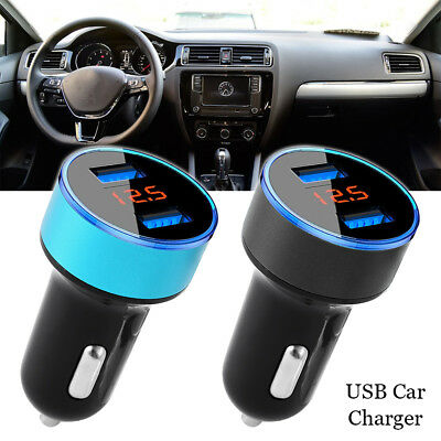 HOT 3.1A Dual USB Car Charger 2 Port LCD Display 12-24V Cigarette Socket Lighter