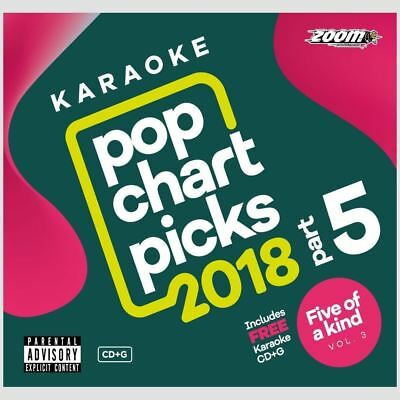 Zoom Karaoke CD+G - Pop Chart Picks 2018 Part 5 + FREE Ladies of Soul Neu