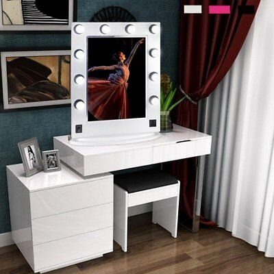 "26"" Hollywood Makeup Vanity Mirror with Led Light Cosmetic Beauty Stage 10 Bulbs"