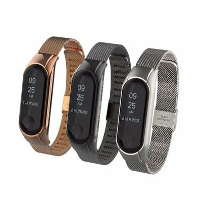 Fit Xiaomi Mi Band 3 Metal Wrist Smart Bracelet Stainless Steel Watch Band Strap