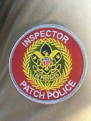 """Boy Scout Commissioner Spoof Patch """"Inspector Patch Police"""" Position Insignia"""
