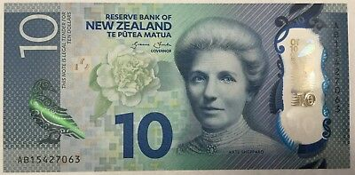 NEW ZEALAND 10 Dollars Polymer Banknote UNC.