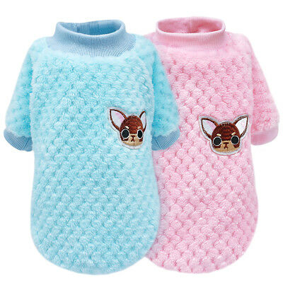 Cute Pet Puppy Sweater Soft Plush Clothes for Small Medium Dogs Boy Girl Vest