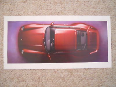 1996 Porsche Turbo Coupe Showroom Advertising Poster RARE!! Awesome L@@K