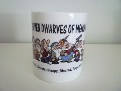 The Seven Dwarves of Menopause Coffee Cup Mug Collectible Humorous Funny Gift