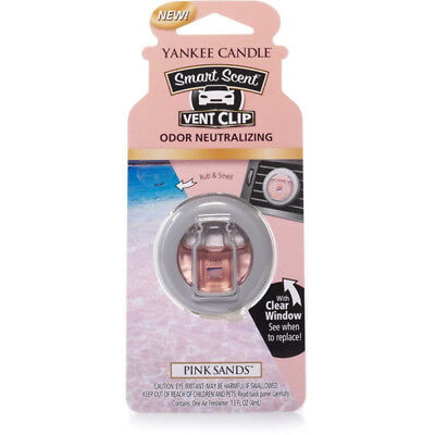 1304388E Smart Scent Vent Clip Pink Sands Air Freshener Fragrance Yankee Candle