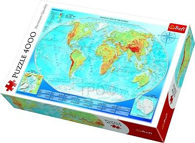 Trefl 3000 Piece Adult Large Large Physical Map Of The World Jigsaw Puzzle NEW