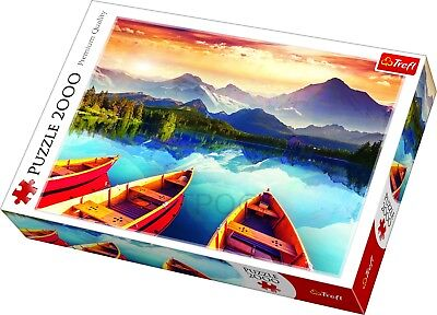 Trefl 2000 Piece Large Crystal Lake Boats Scenery Mountains Floor Jigsaw Puzzle