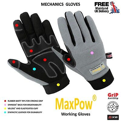 Kyb® New Safety Work Working Precision Builders Tradesman Max Performance Gloves