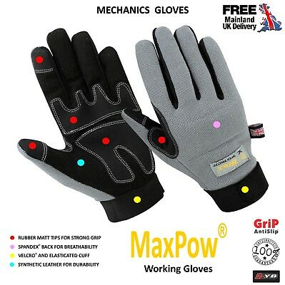 New KYB® SAFETY WORK WORKING PRECISION BUILDERS TRADESMAN MAX PERFORMANCE GLOVES