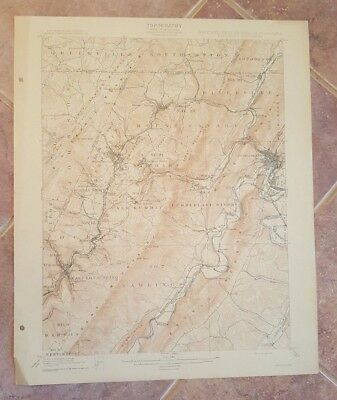 TOPOGRAPHY MAP - STATE OF MARYLAND, WV, PA - Frostburg Quadrangle 1908