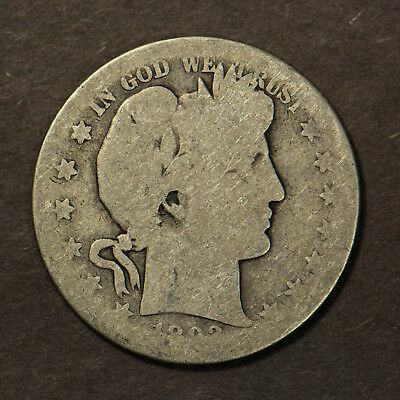 1893-S BARBER 50C Silver HALF DOLLAR Lot#B730