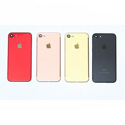 iPhone 7 Replacement Metal Back Housing Cover Case Gold Black Red Rose Gold