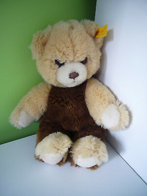 Steiff Teddy Bear Cream Beige Brown EAN 6270/27 Squeaker Soft Plush Toy 11""