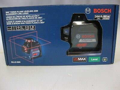 Bosch Gll3-300  360 Degree Three-Plane Leveling And Alignment-Line Red Laser