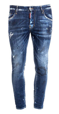 DSQUARED2 Pantalons Hommes Jeans S74LB0257 S30342 Col 470 Bleu Made Italy  Coton aec1bfd57dfb