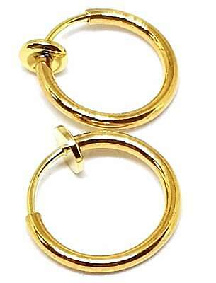 Fake Piercing Gold Clip On Nose Hoop Ring Ear Septum Lip Earrings