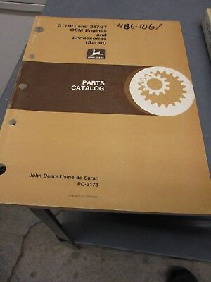 JOHN DEERE 3179D 3179T OEM Engines & Accessories (Saran) PC-3178
