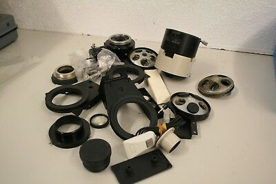 LOT of Nikon microscope nose piece  stage carrier  parts and accessories   NIK#5