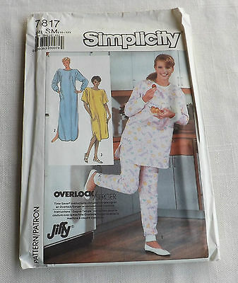 4d7a27dbbb Simplicity Sewing Pattern 7817 ~ Misses Knit Nightgown   Pajamas ~ Size Sm  10-12