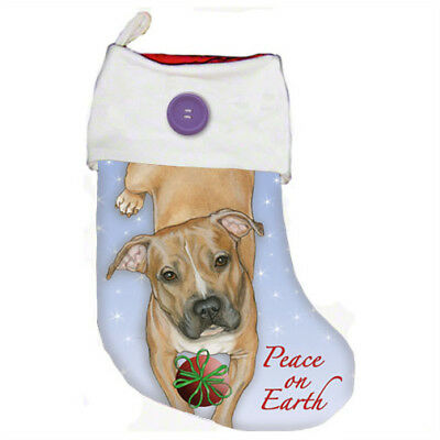 Pit Bull Fawn Christmas Stocking