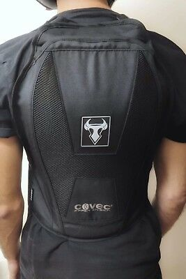 Adjustable Motorcycle Back Harness + Protector CE lvl 2 - Size:Medium RRP £82.99