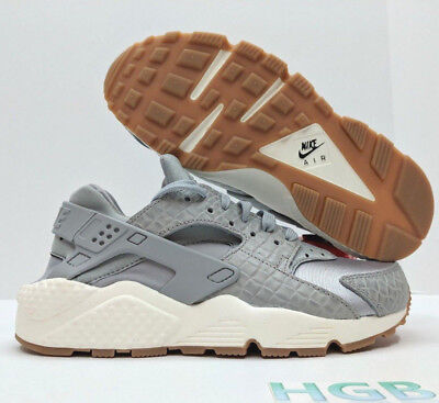 bc938cb54418 Nike Air Huarache Run PRM Premium Running Womens Grey White Gum 683818-012  NIB